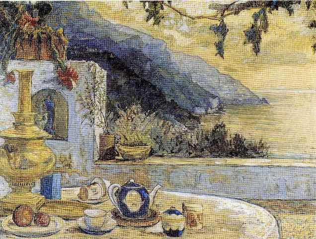 1.Ivan Giovanni Zagoruiko, Veduta con teiera, 1958.jpg